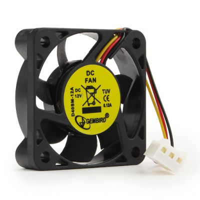 Маленький кулер 40x40 См для моста или видеокарты Gembird D40SM-12A