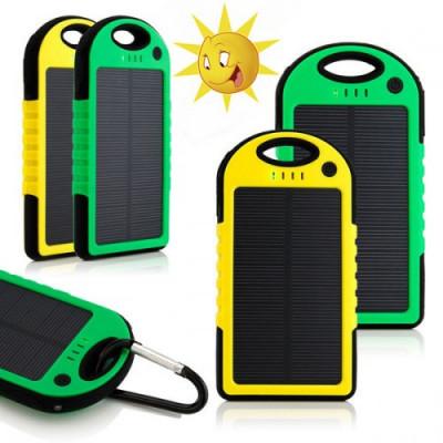 Портативный аккумулятор SOLAR A50, 10000 mAh + фонарик, подзарядка от солнца