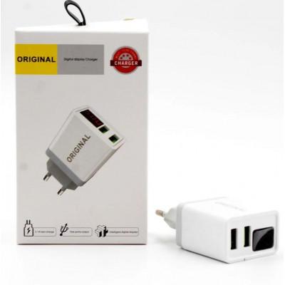 CX QC03 адаптер для зарядки устройств от порта USB с дисплеем и током 3.1