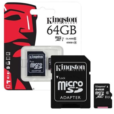 Карта памяти microSD с переходником в комплекте