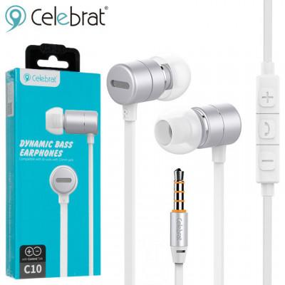 Вакуумні навушники з мікрофоном Celebrat C10