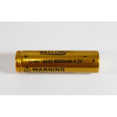 Аккумулятор Bailong 4.2V 18650 (Gold) Емкость 8800 mAh