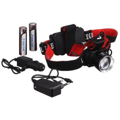 Аккумуляторный налобный фонарь Bailong BL-T20 P90