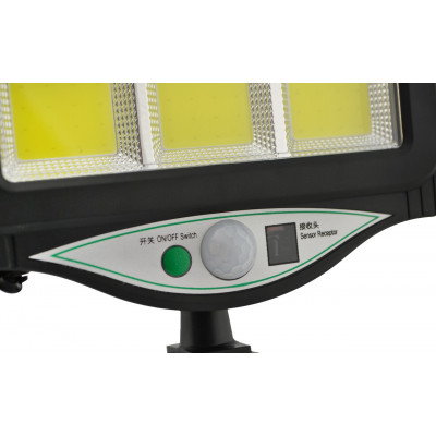 BK128-6 COB - мощный уличный фонарь с солнечной зарядкой