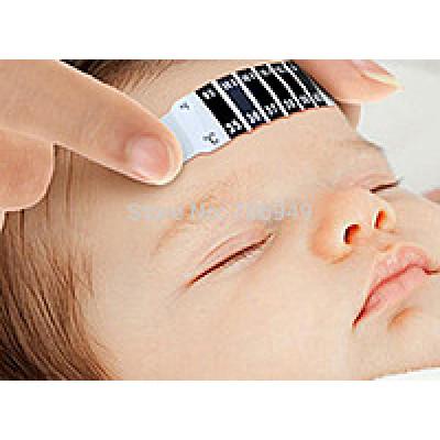 Безопасный термометр, градусник-полоска на лоб для взрослых и детей