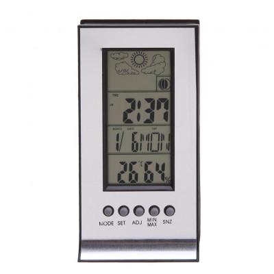 Цифровой гигрометр, барометр, термометр, будильник, часы, дата
