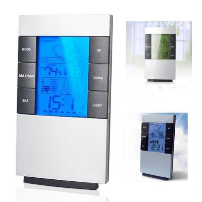 Цифровой гигрометр, термометр, барометр, часы, барометр, будильник