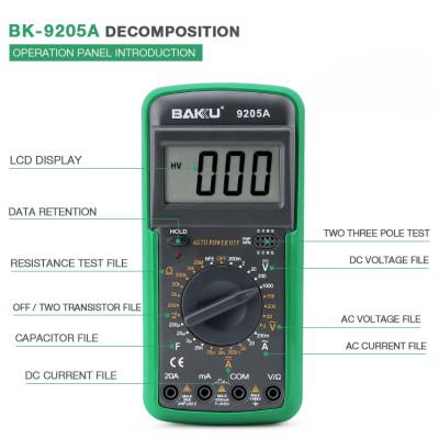 Мультиметр цифровой Baku BK-9205A