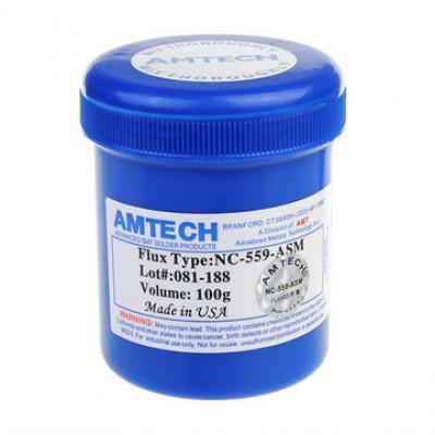 100% Оригинал флюс для пайки AMTECH NC-559-ASM, шприц 10 мл.