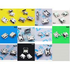 Акція роз'єми micro USB 11 видів по 5 штук ГУРТ